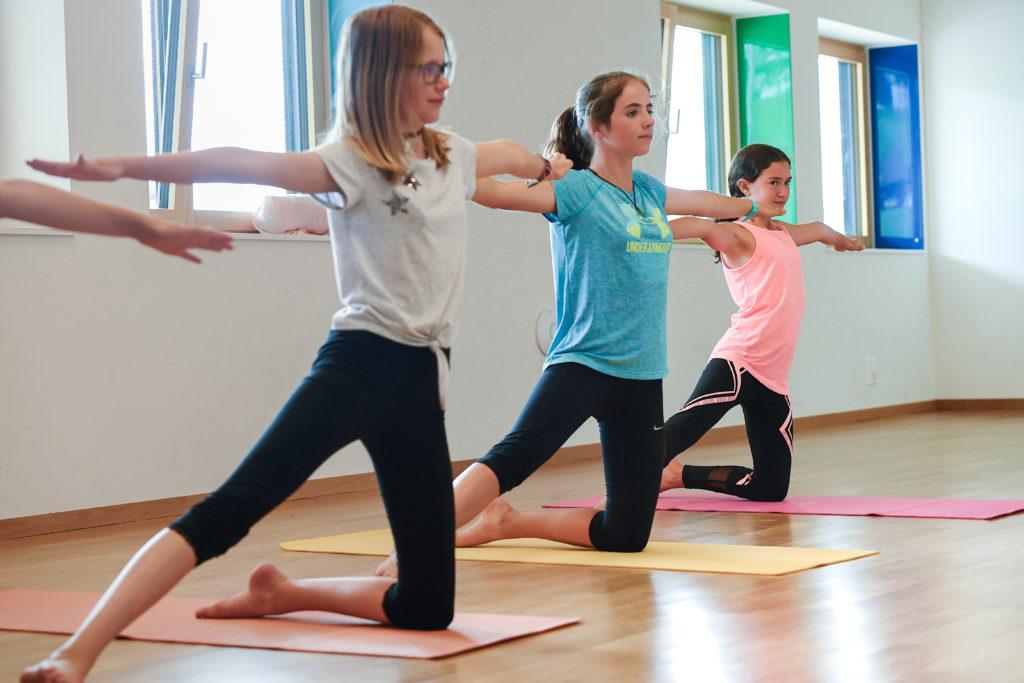 Aus einem yoga-mädchen